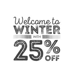 winter sale poster design template creative vector image