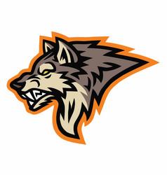Wolf logo sports mascot design template vector