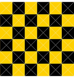 Yellow Black Chess Board Diamond Background vector