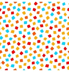 Colorful red orange yellow blue square shape vector image