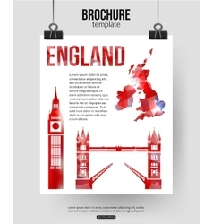England travel background Brochure with Great vector image vector image