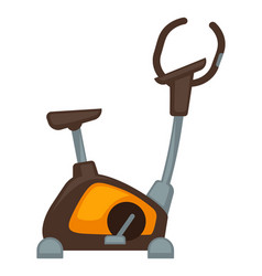exercycle isolated on white vector image vector image