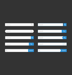 search bar template vector image