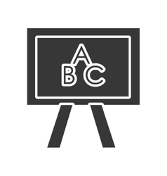 black and white school board graphic vector image