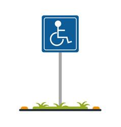 handicap parking sign icon imag vector image vector image