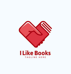 i like books abstract sign emblem or logo vector image vector image