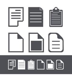 modern file icons set vector image