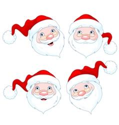 Santa Claus Face Expressions vector image vector image