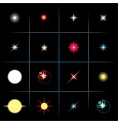 shining stars vector image vector image