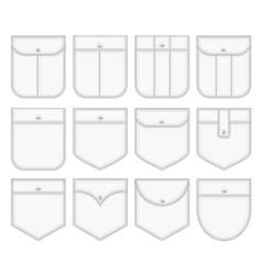 Shirt pockets vector image vector image