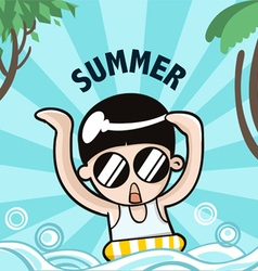 Summer boy vector image