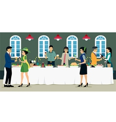 Catering vector image vector image