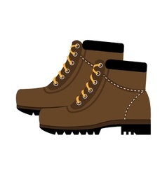 Colorful boots with laces graphic vector