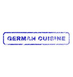 german cuisine rubber stamp vector image