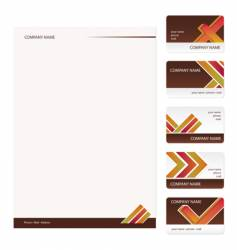 business cards template vector image vector image