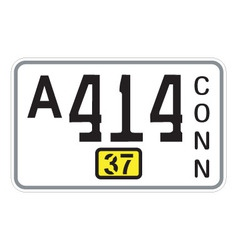 Connecticut 1937 license plate vector image vector image