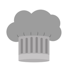 Gray scale silhouette of chefs hat with details vector