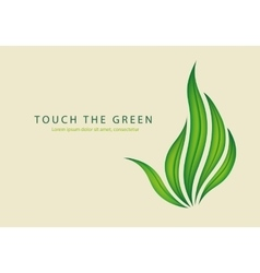 green leaves of grass as a gesture off vector image vector image