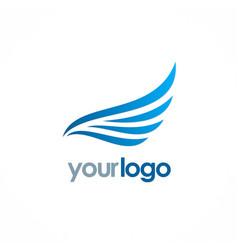 wing air fly logo vector image
