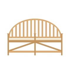 Wooden bench Benches isolated flat view vector image