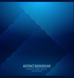 Abstract blue background with wavy lines vector