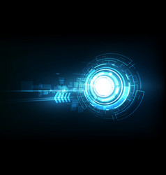 abstract future technology electric telecom vector image