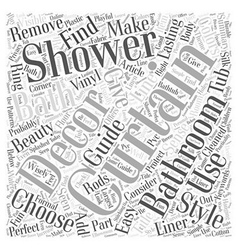 Add shower curtains to your bath decor for lasting vector