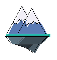 Alps mountains icon vector