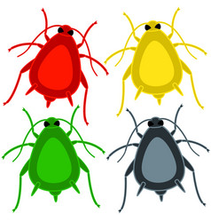 Aphid insect set vector