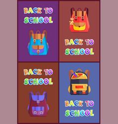 back to school backpack set vector image
