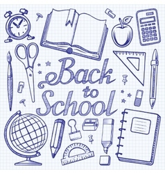 Back toschool doodle background vector