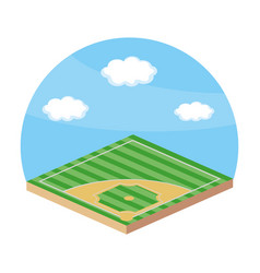 Baseball playing field vector