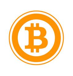 bitcoin flat symbol vector image