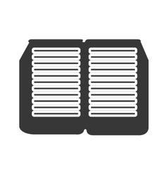 black and white open book graphic vector image