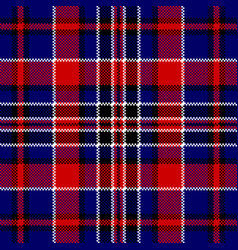 Blue red check square pixel seamless pattern vector