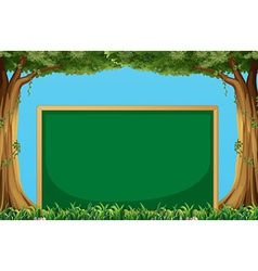 Board and trees vector image