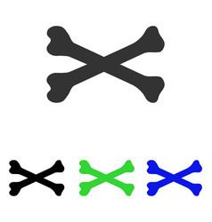 Bones flat icon vector
