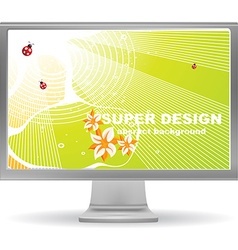 Bright Abstract Computer Screen Saver vector