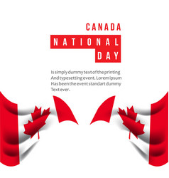 Canada national day template design vector