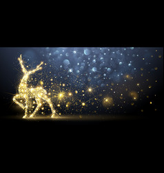 christmas card with magic deer vector image