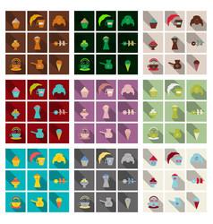 Coffee color drawn collection sketch set vector