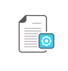 cog document file gear optimise page settings icon vector image