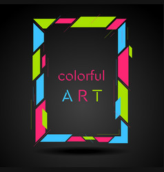 Colorful geometric hipster style frame vector