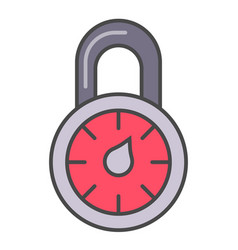 combination lock isolated pictogram vector image