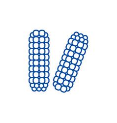 corn maize line icon concept corn maize flat vector image