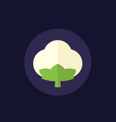 Cotton icon in flat style vector