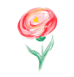 cute spring watercolor flower art isolated vector image
