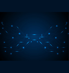 Dark blue glowing circuit board tech background vector