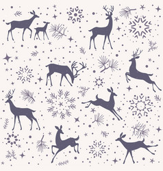Deer seamless vector