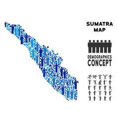 Demographics sumatra island map vector